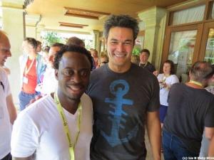 Sandras with Patrick Pichette CFO of Google