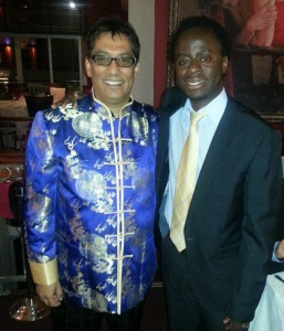 Sandras with Dr Iqbal Surve CEO of Sekunjalo