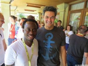 Sandras with Roger Hamilton