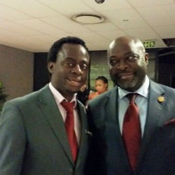 with the Pan African Parliament president
